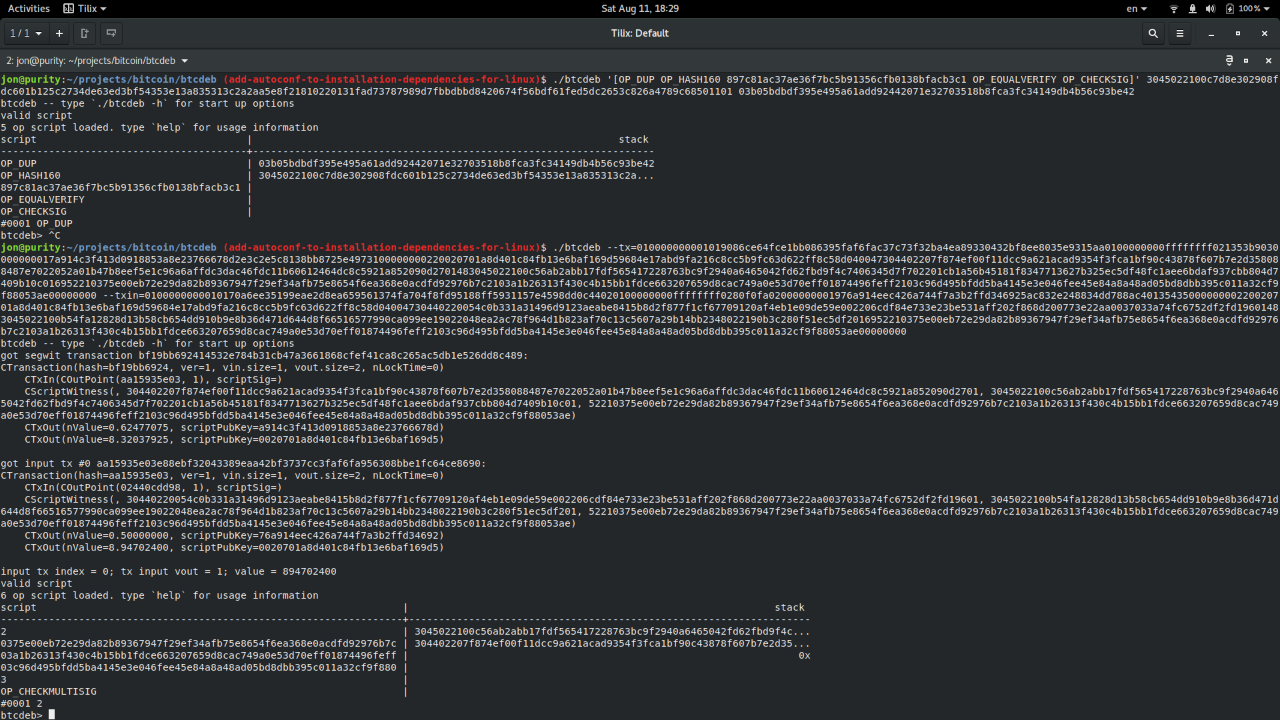 Trying out btcdeb, the Bitcoin Script debugger ht…
