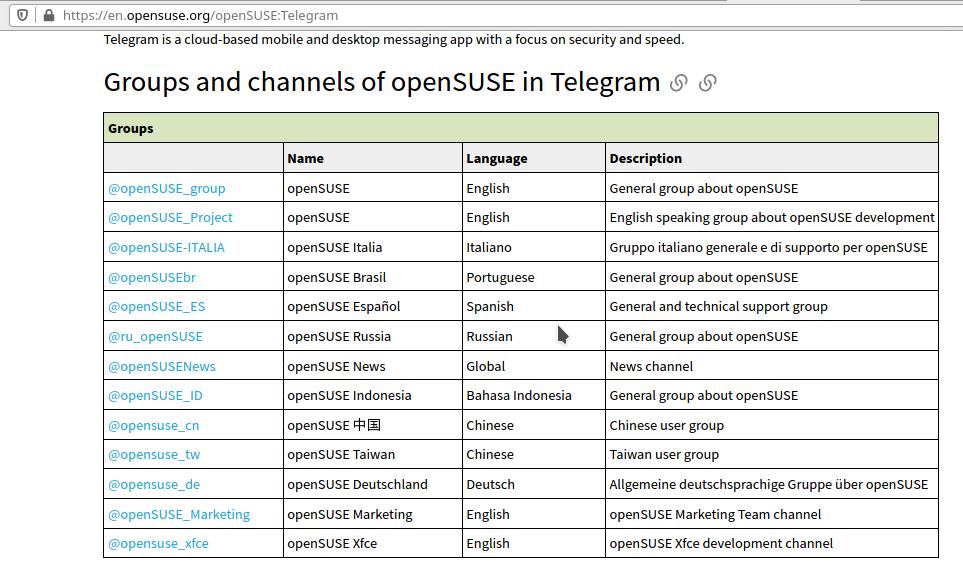 https://en.opensuse.org/openSUSE:Telegram