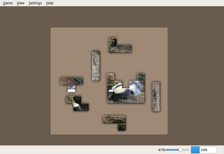 A puzzle with two skunks in Tetzle. Image courtesy birdphotos.com