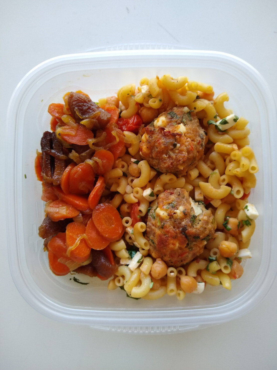 Meatballs with Carrot side