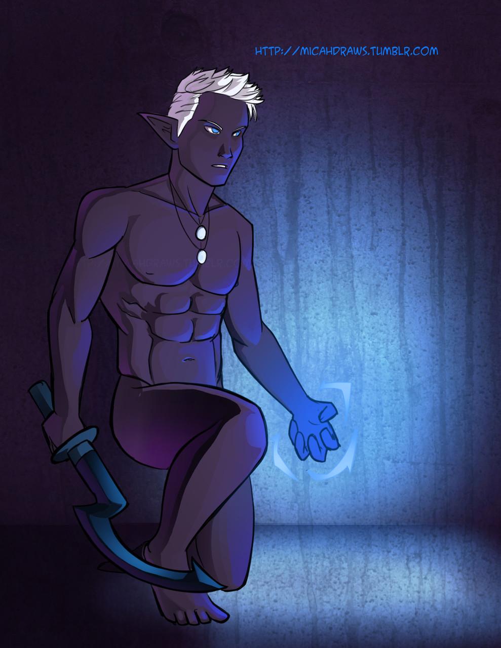Micahdraws Sexy Dark Elf Istnar From My Upcoming Fantasy Que