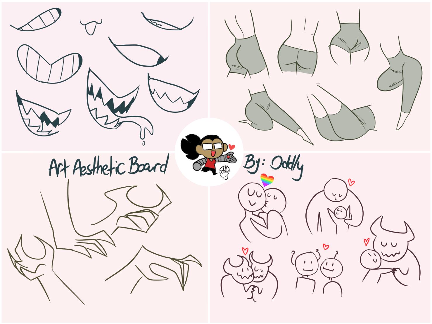Oddly Exe I Made An Art Aesthetic Board Recently Basically Mastodon Art