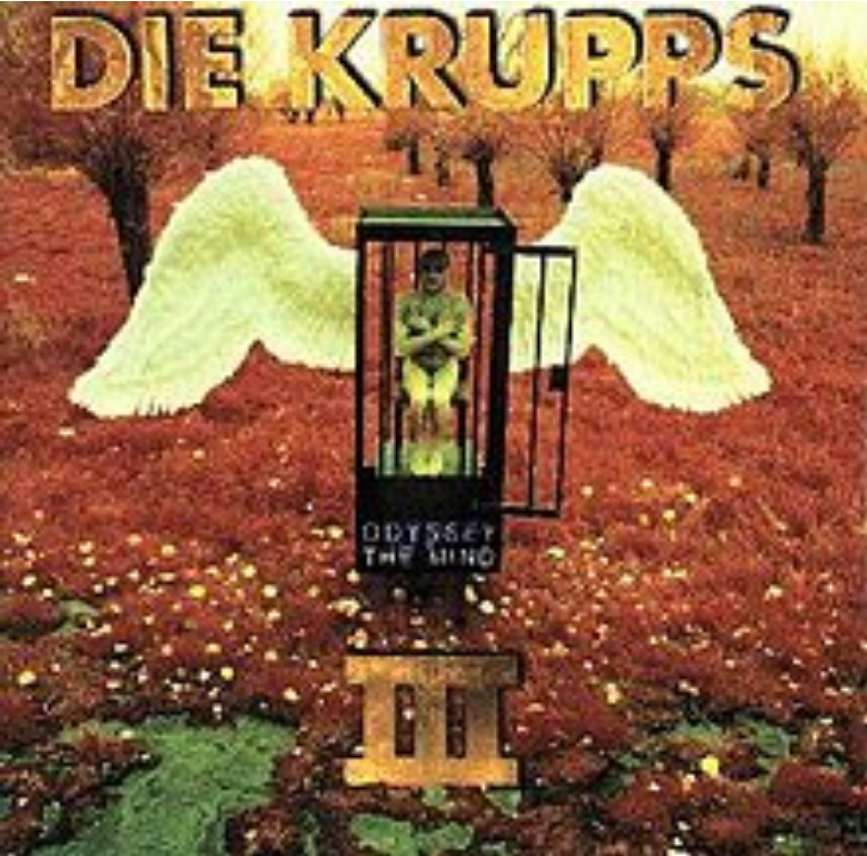 die krupps odyssey of mind album cover with caged angel