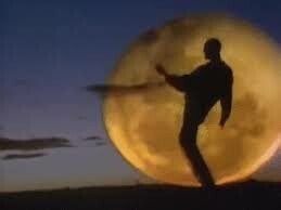 world famous peter garret arm dance silhouette from beds are burning music video DIESEL AND DUST RULES