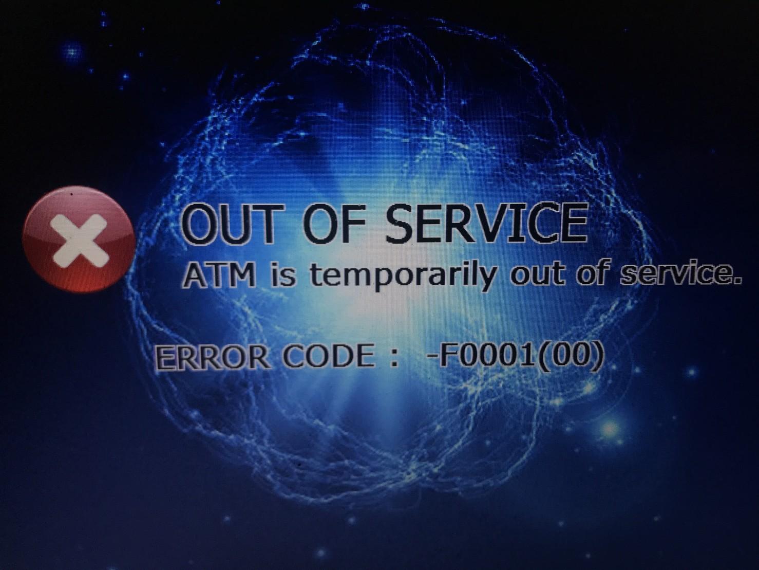 Atm error codes