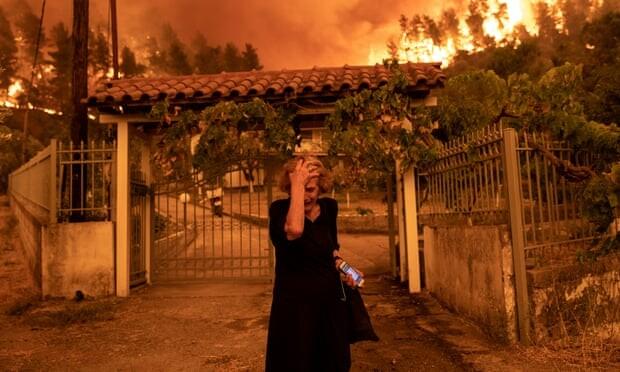 "afallen: CW ""Distressed woman, wildfire"" (sensitive)"